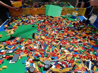 big pile of legos