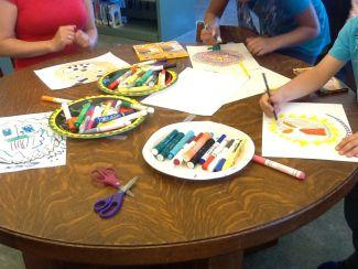 photo of more of kids artwork from JazzArt program