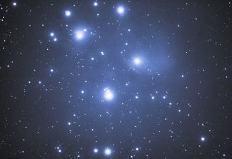 photo of the Pleiades grouping of stars