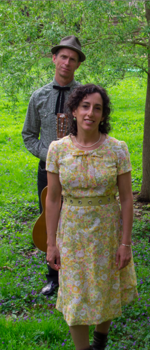 photo of musicians Sam Bartlett and Abby Ladin