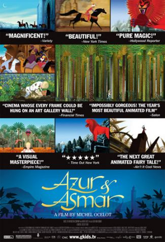 photo of poster of Azur and Asmar movie; used by permission of GKids Films