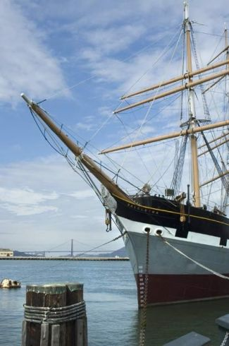 The Balclutha a historic ship that you can visit at the SF Maritime Museum