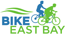 Bike East Bay logo of cyclists in green and blue