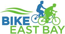 Bike East Bay Logo in blue and apple green