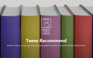 Row of colorful book spines with BPL Teens Recommend blog header