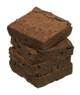 four brownies stacked on top of each other