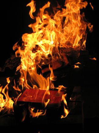 Book on fire - image courtesy of flickr user pcorreia