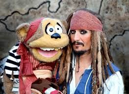 photo of pirate Captain Jack Spareribs and puppet