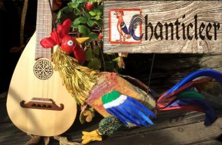 photo of the Chanticleer the Rooster puppet