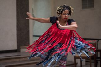 Andrea Spearman dancing
