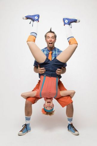 photo of Coventry holding Kaluza upside down