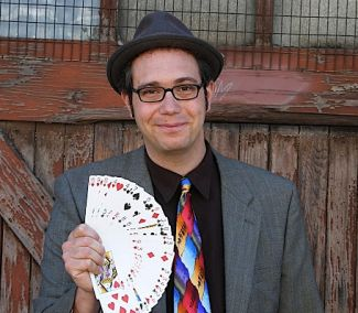 photo of Magician Mike Della Penna; photo by Joanna Currier