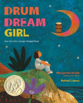 photo of cover of picture book, Drum Dream Girl