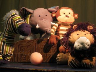 photo of puppets from the Little Elephant Has a Ball show
