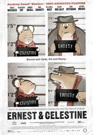 photo of poster of Ernest and Celestine movie; used by permission of GKids Films