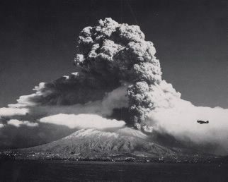 photo of Mount Vesuvius erupting