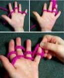 photo of examples of finger knitting
