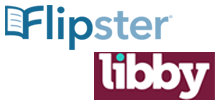 Flipster and Libby logos