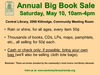 Friends of the Library BIG BOOK SALE Ad