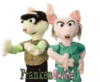 photo of puppets from the Frankenswine performance by Puppet Art Theater