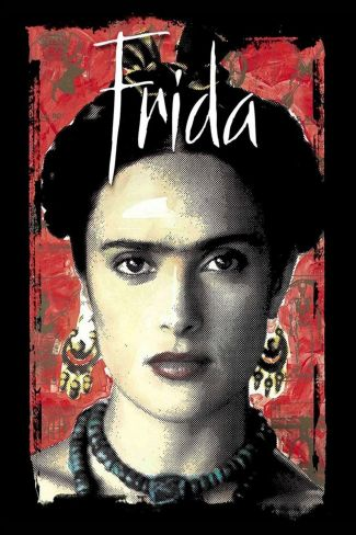 a close of of actress Salma Hayak in the role of Frida