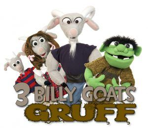 photo of puppets from the Three Billy Goats Gruff show