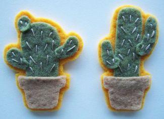 Felt Cactus Pins
