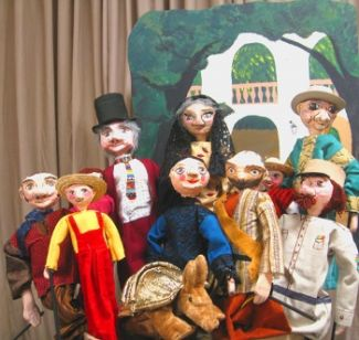 photo of puppets from The Golden Armadillo