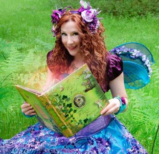 magic fairy with book