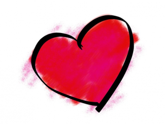 pink heart graphic