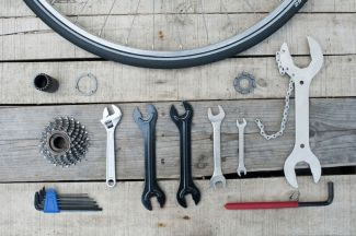Bike tools layed out