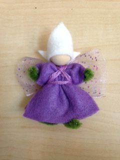 photo of purple felt fairy