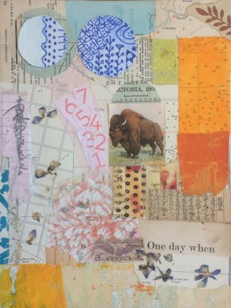 collage with buffalo