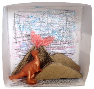 picture of a dinosaur diorama
