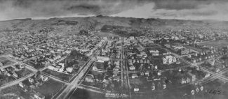 Panoramic view of Berkeley 1908