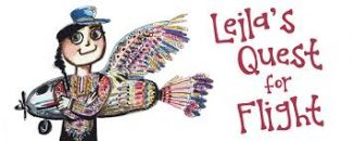 logo for the play Leila's Quest for Flight by Golden Thread Fairytale Players