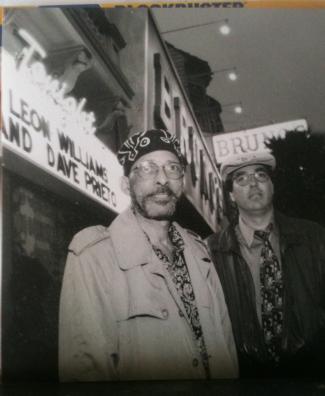 Leon Williams and Dave Prieto b/w photo