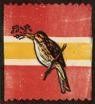 print of a singing bird