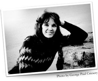 black and white snapshot of Lucille Lang Day taken by George Paul Csicsery