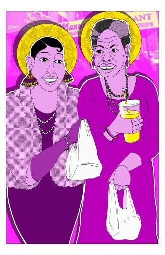 Maya and Josephine by Ajuan Mance
