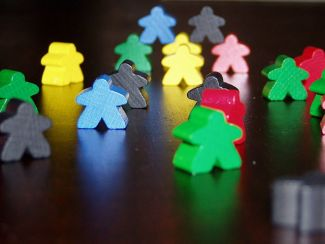 Picture of Meeples (Carcassonne) from the Wikimedia Commons