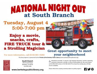 National Night Out @ South Berkeley Branch