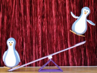 photo of penguins from North Pole Review; courtesy of Fratello Marionettes