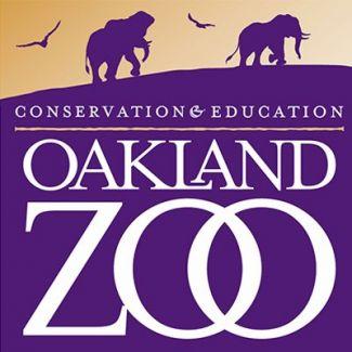 Oakland Zoo logo with elephants and birds