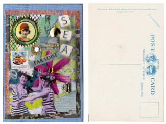 Collage postcard front & back