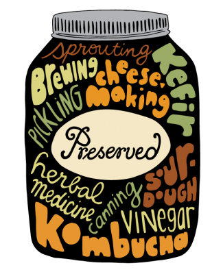 Preserved Logo on Mason Jar