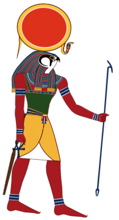 Graphic of sun god Ra