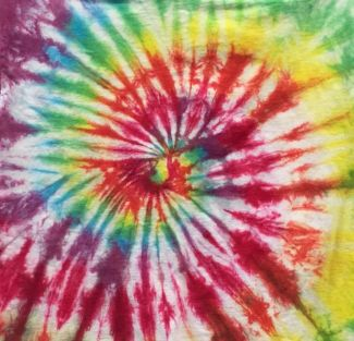 Rainbow tie-dye swirl