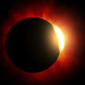 photograph of a solar eclipse