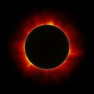 photograph of the eclipse of the sun